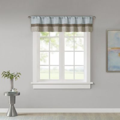 Madison Park Tradewinds Window Valance In Blue