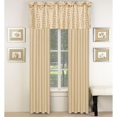 waves window valance in beige