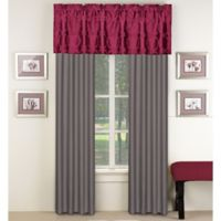 Aryn Window Valance in Red/Grey