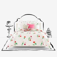 kate spade new york Willow Court Maraschino King Comforter Set in Ivory