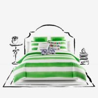 kate spade new york Rugby Stripe King Comforter Set in Green