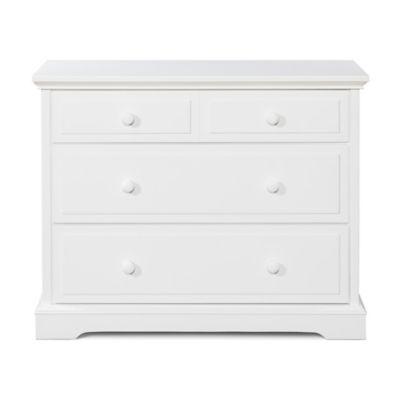 dressers u003e child craft 3drawer universal dresser in matte white