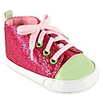 BabyVision® Luvable Friends® Size 0-6M Sparkly Sneaker in Pink