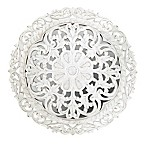 Icon International Carved Medallion Mirror in White