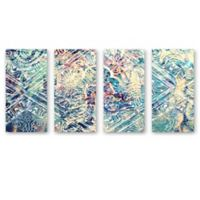 Oliver Gal Damask Canvas Wall Art (Set of 4)