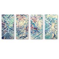 Oliver Gal Damask Canvas Wall Art (Set of 4)