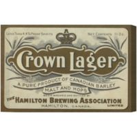 Oliver Gal Crown Lager Canvas Wall Art
