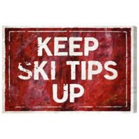 """Oliver Gal Artist Co. """"Keep Ski Tips Up"""" Canvas Wall Art"""