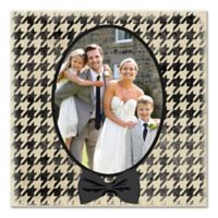 Houndstooth Suit and Bow Tie Canvas Wall Art