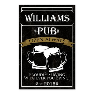 Lovely Personalized Pub Canvas Wall Art