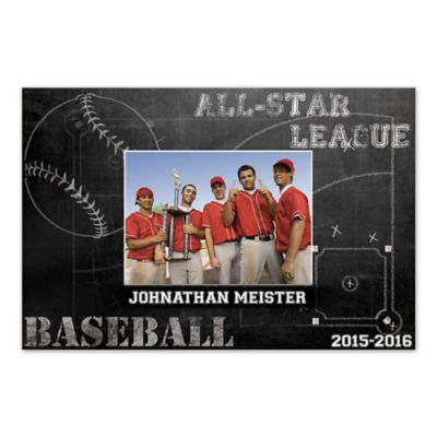 Baseball All Star League Canvas Wall Art