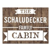 Family Cabin Canvas Wall Art