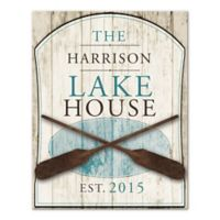 Family Lake House Canvas Wall Art
