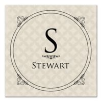 Circle Scroll Monogram Canvas Wall Art