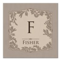 Floral Damask Letter Canvas Wall Art
