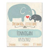 "Elephants ""Dream Big, Little One"" Canvas Wall Art"