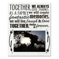 """As A Family"" Canvas Wall Art"