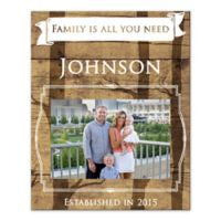 """Family Is All You Need"" Canvas Wall Art"