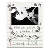 "Graduating Class ""Wherever You Go, Let Your Heart Guide You"" Digitally Printed Canvas Wall Art"