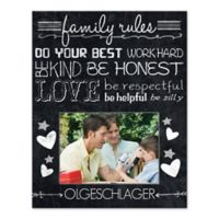 """""""Family Rules"""" Canvas Wall Art"""