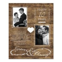 """Happy Anniversary """"Forever & Always"""" Wall Art"""