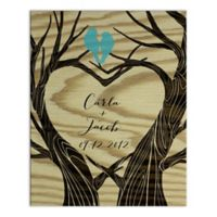 Love Tree Digitally Printed Canvas Wall Art