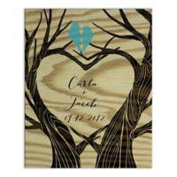 Love Tree Digitally Printed Canvas Wall Art
