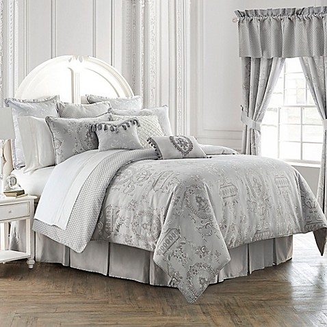 Waterford 174 Linens Whitney Reversible Comforter Set Bed