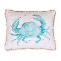 Thro Carmello Watercolor Crab Oblong Throw Pillow