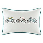 Madison Park HipStyle Bicycle Oblong Pillow in Aqua