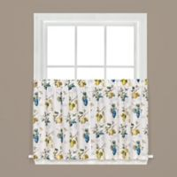 Botanical Fruit 36-Inch Kitchen Window Curtain Tiers in White