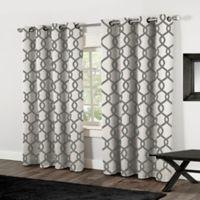 Kochi 84-Inch Grommet Top Window Curtain Panel Pair in Black Pearl
