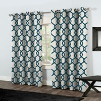 Kochi 84-Inch Grommet Top Window Curtain Panel Pair in Teal