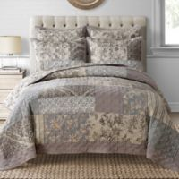 Davis Twin Quilt in Taupe
