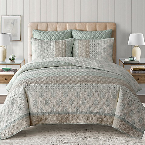 Kala Quilt In Seafoam Bed Bath Amp Beyond