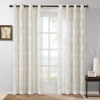 Madison Park Adele 84-Inch Grommet Top Window Curtain Panel in Ivory