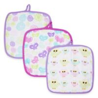 MiracleWare Bursts Muslin 3-Pack Baby Washcloth Set