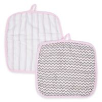 MiracleWare Muslin 2-Pack Baby Washcloth Set in Pink