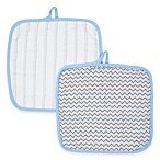 MiracleWare Muslin 2-Pack Baby Washcloth Set in Blue