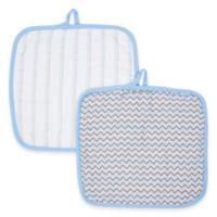 MiracleWare Muslin 2-Pack Baby Washcloth Set in Blue