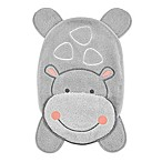 Just Born® Hippo Cozy Washcloth in Grey