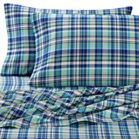 Lakeside Living Plaid King Pillowcases in Green (Set of 2)