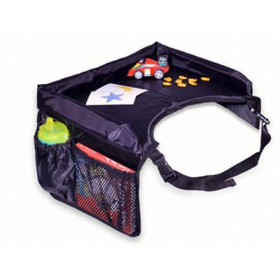 star kids snack play travel tray in black