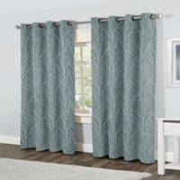 Finesse 96-Inch Grommet Top Window Curtain Panel Pair in Blue