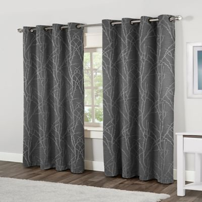 Wonderful Finesse 84 Inch Grommet Top Window Curtain Panel Pair In Ash Grey