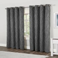 Finesse 84-Inch Grommet Top Window Curtain Panel Pair in Ash Grey