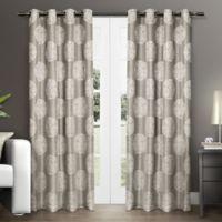 Akola 84-Inch Grommet Top Window Curtain Panel Pair in Natural