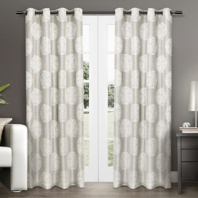 Akola 84 Inch Grommet Top Window Curtain Panel Pair In Dove Grey