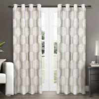 Akola 84-Inch Grommet Top Window Curtain Panel Pair in Dove Grey