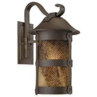 Minka Lavery® Lander Heights™ 21.5-Inch 1-Light Wall-Mount Outdoor Lantern in Forged Iron